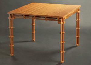 mesa realizada con bambú