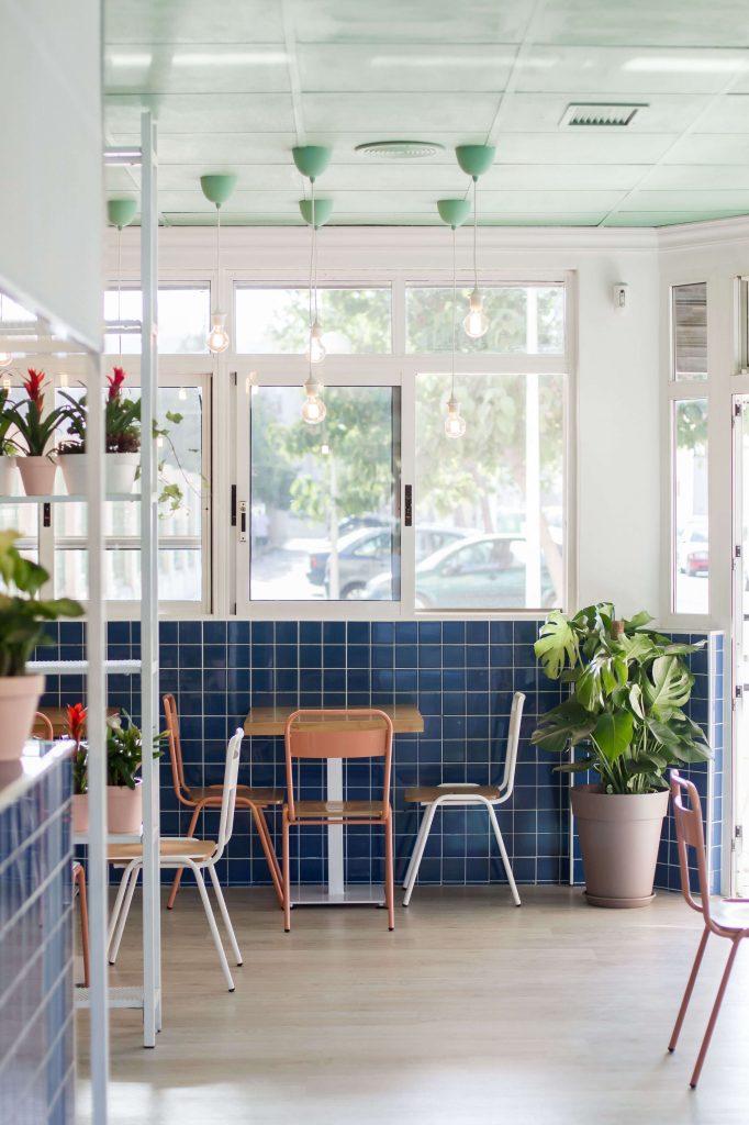 plantas en restaurante