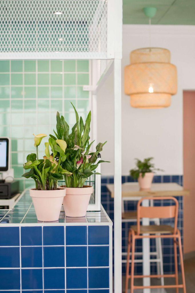 plantas en restaurante decoración