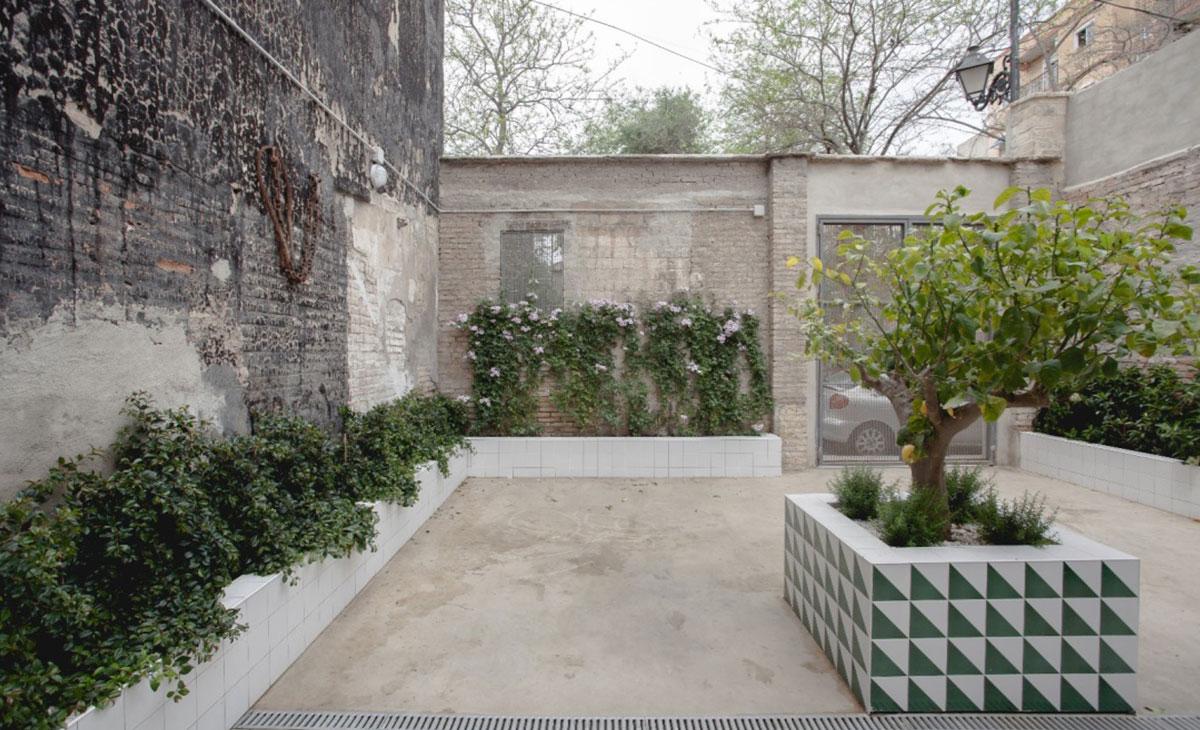 jardín en patio interior