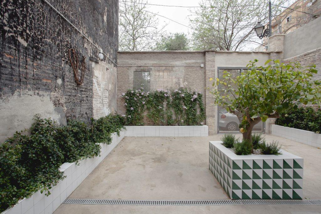 jardín en patio