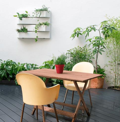 jardín en terraza