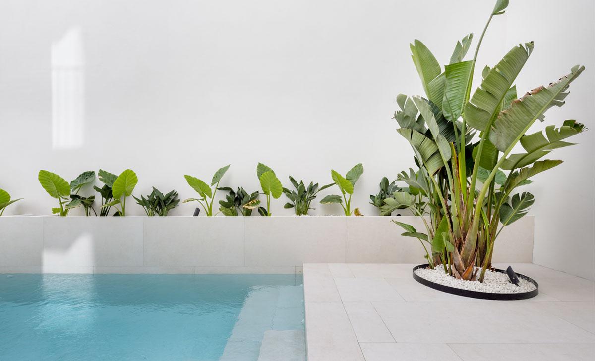 jardin en piscina